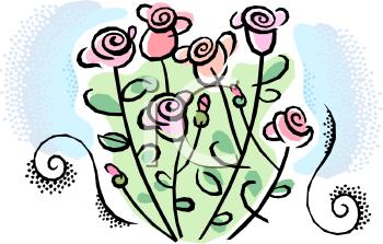 Pink Rose clipart rose bush Panda image bush