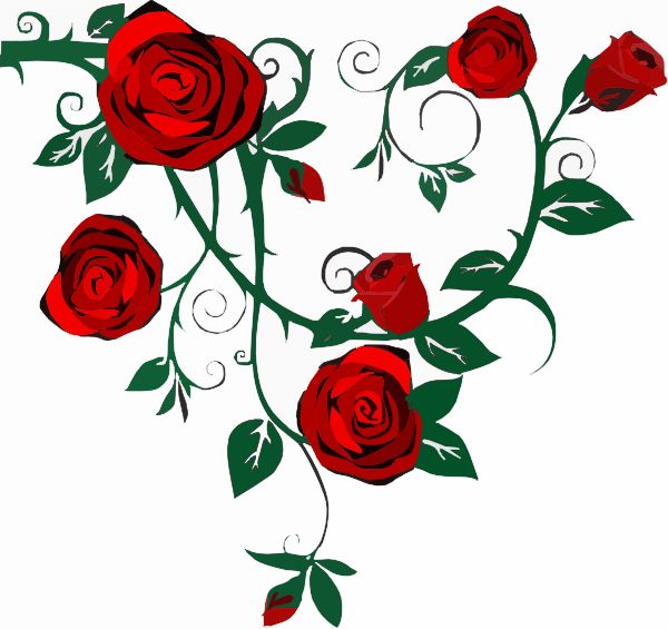 Rose Bush clipart artwork #10