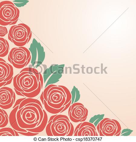 Drawn rose bush red rose flower Bush Red Red bush pink