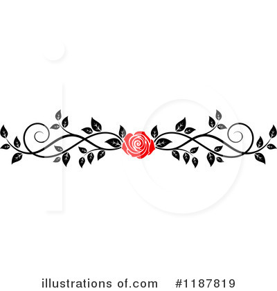 Rose clipart branch #12