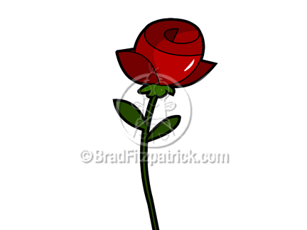 Cartoon clipart rose Stock Royalty Royalty Illustration Free