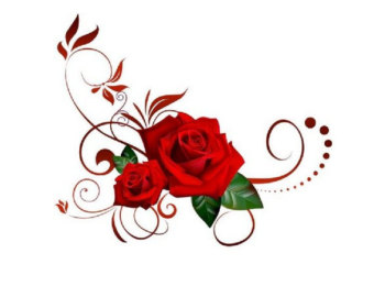 Rose clipart decal #3