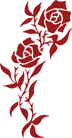 Rose clipart decal #10