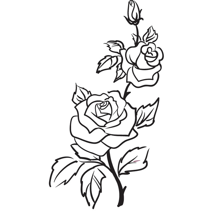 Rose clipart decal #6