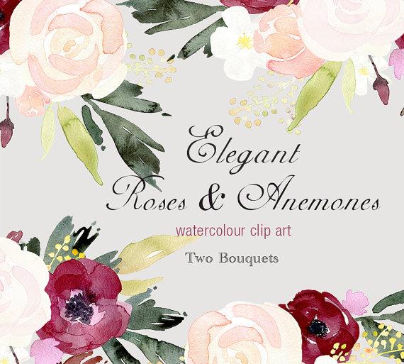 Rose clipart elegant flower #8