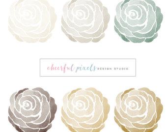 Rose clipart elegant flower #7