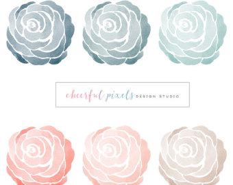 Rose clipart elegant flower #9