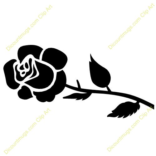 Rose clipart small black #12