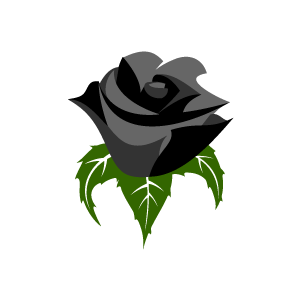 Rose clipart small black #9