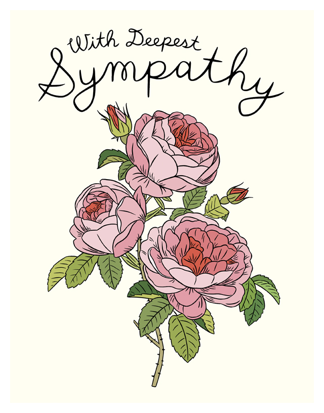 Rose clipart sympathy flower #13
