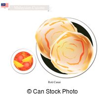 Roti clipart Illustrations Curry Roti Roti Canai