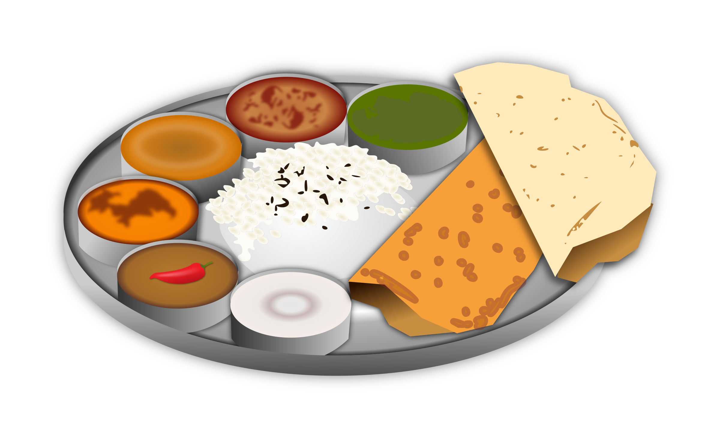 Covered clipart food platter Reverse Images Cartoon Roti Search
