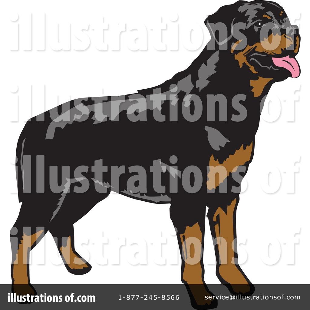 Rottweiler clipart (RF) Illustration Rottweiler Rottweiler #1373137