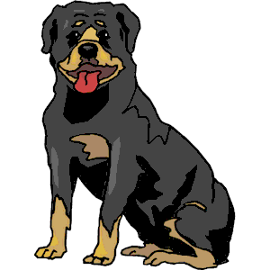 Rottweiler clipart Cliparts free svg of Rottweiler