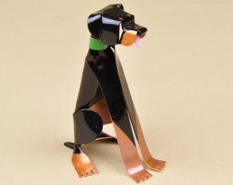 Rottweiler clipart Sculpture Miniature Etsy Handmade Collectible