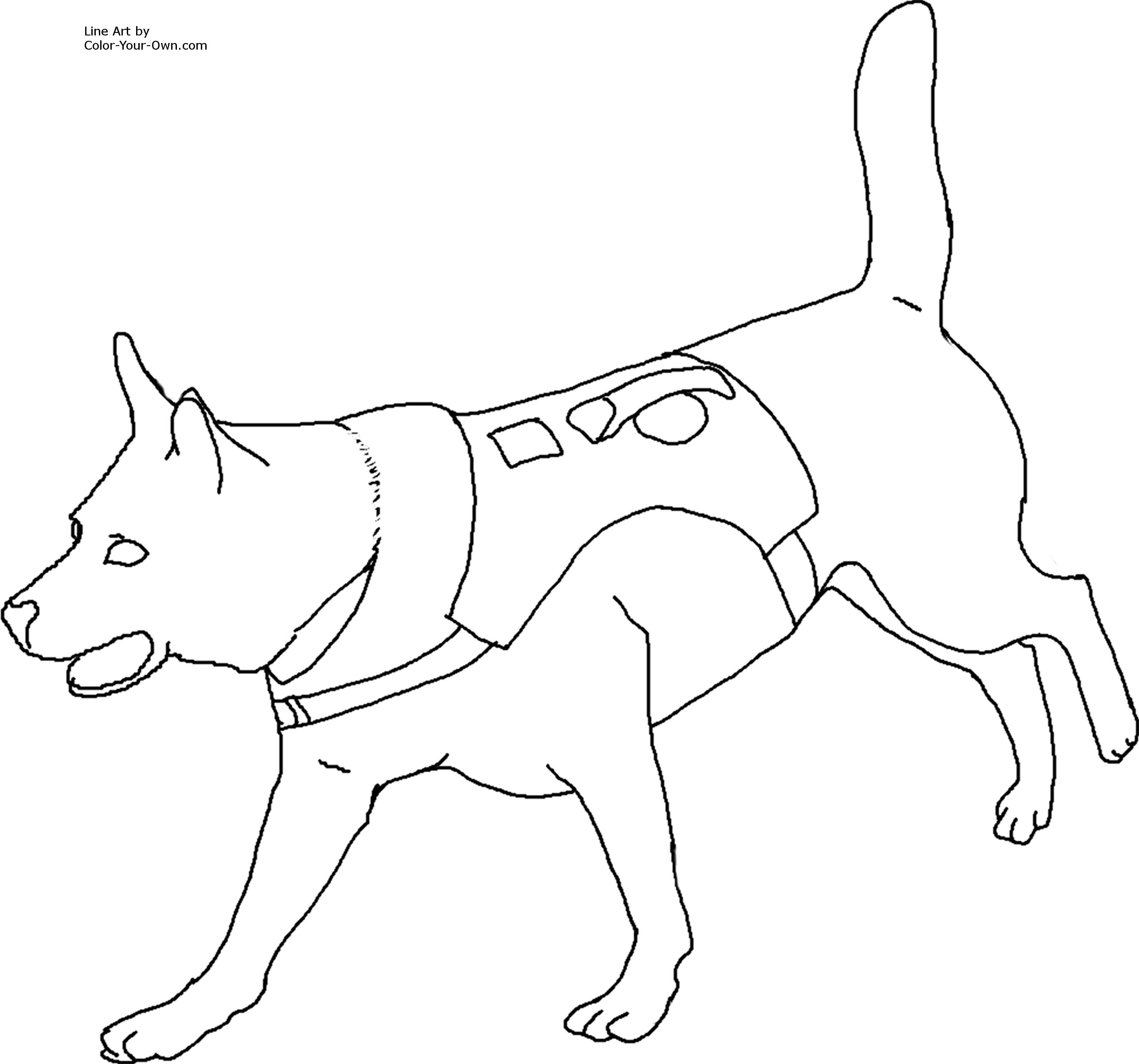 Pitbull clipart coloring page Coloring printable shepherd Pages Clip