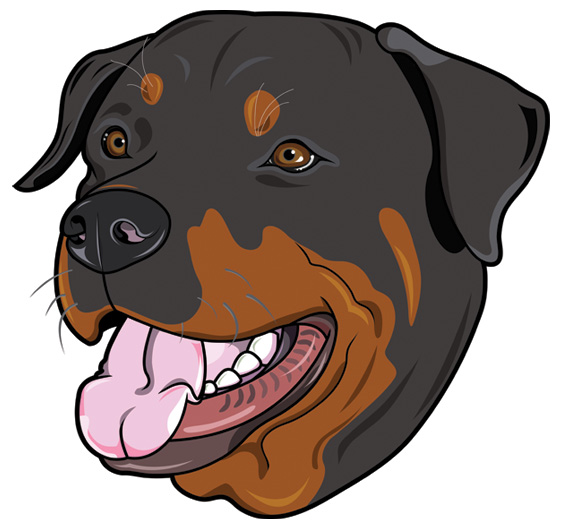 Rottweiler clipart mad #13