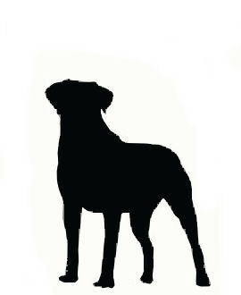 Larger clipart big dog Of Pictures Large Silhouette Dog