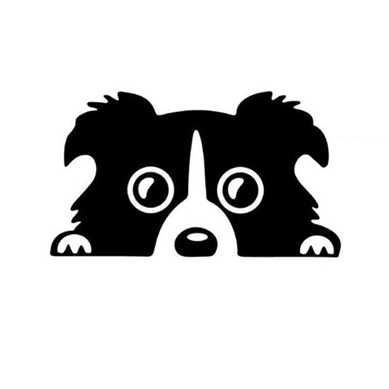Bearded Collie clipart animated Online DOG Cartoon Collie 17*10cm