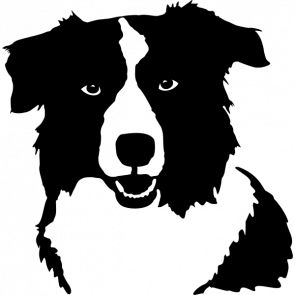Border Collie clipart silhouette Best images svg Search 1326