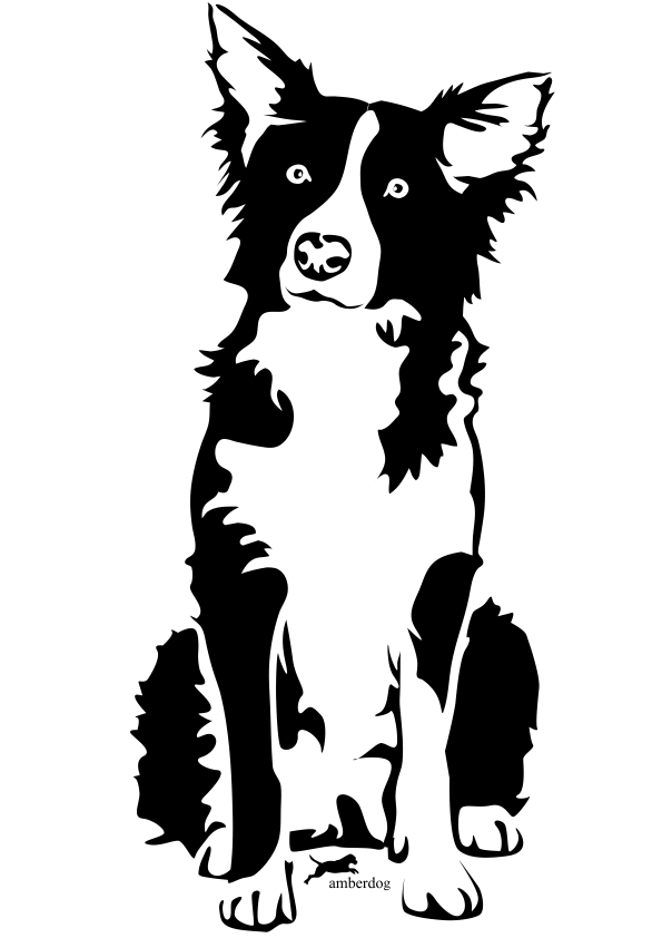 Border Collie clipart black and white Collie Border Red Collie Cliparts