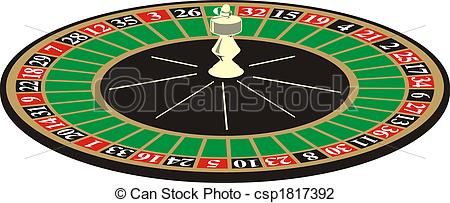 Roulette clipart On casino of  background