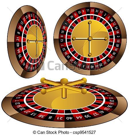 Roulette Wheel clipart standard A of Wheel Vectors