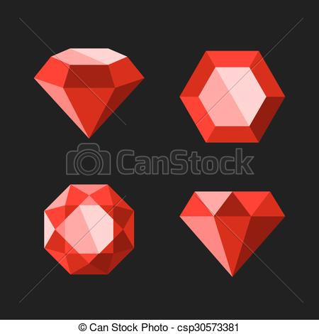 Diamond clipart easy Ruby Diamond Icons csp30573381 or