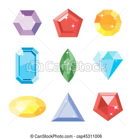 Diamond clipart different shape Emerald gem  Clipart Ruby