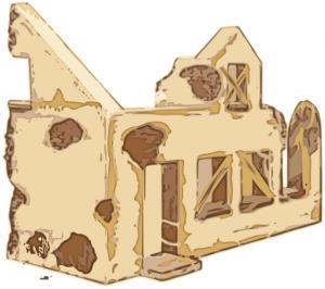 Ruin clipart Clip Ruin House Art Of