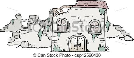 Ruin clipart Ruin of Vectors house csp12560430