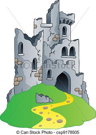 Ruin clipart And vector Ruin  hill