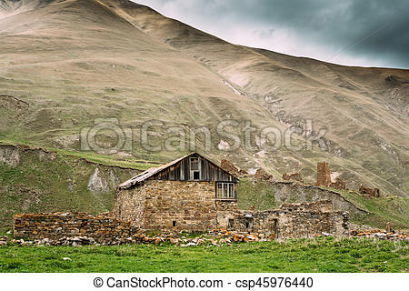 Ruin clipart destroyed city  Village Dilapidated In of