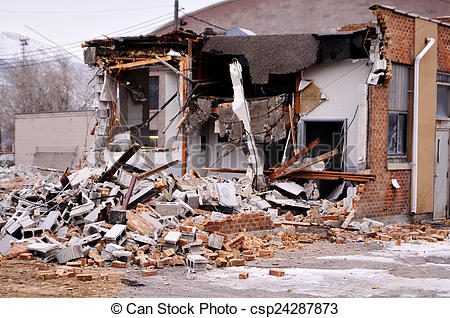 Earthquake clipart building collapse Building of  Collapse Bricks