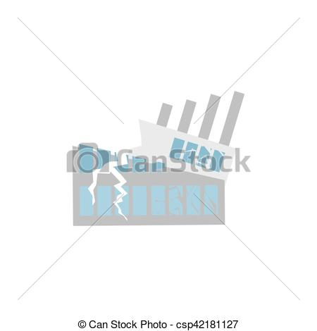 Disaster clipart destroyed house Hurricane building of house Vector
