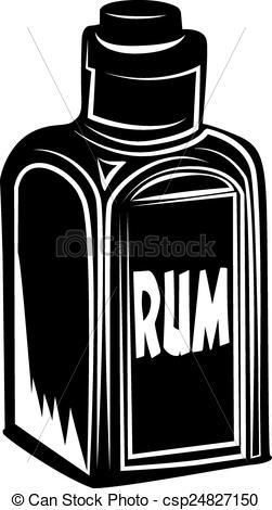 Rum clipart Clipart a Illustration bottle Bottle