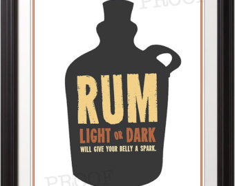 Rum clipart Poster Rum Rum Etsy Bar