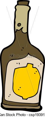 Bottle clipart rum Csp19391161 of rum Art Vector
