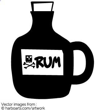 Bottle clipart rum Graphic Bottle : Download Vector