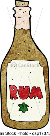 Bottle clipart rum Art Search Clip of Vector