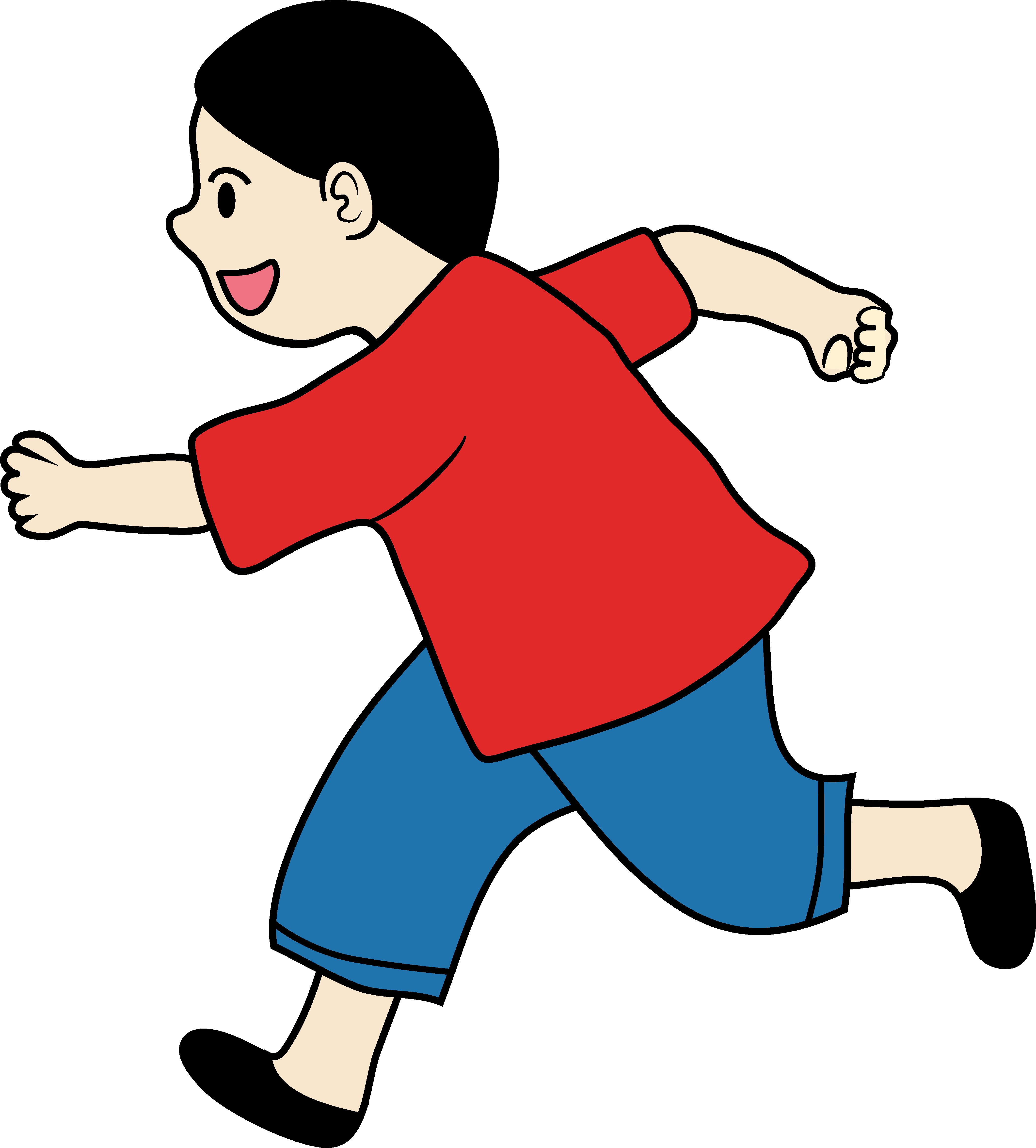 Little Boy clipart run Art running running clipart Clip