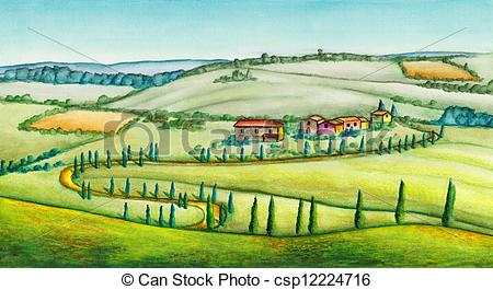 Rural clipart ranch Illustration watercolor 347 and Rural