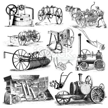 Rural clipart agriculture farming Stock Equipment pics Machinery Illustrations