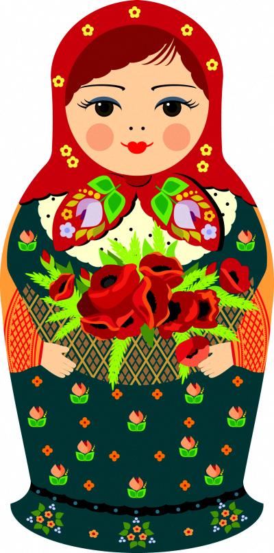 Russia clipart #art Matryoshka clip Matryoshka doll