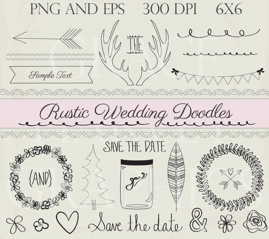 Wedding clipart rustic Rustic Download Digital Art EPS