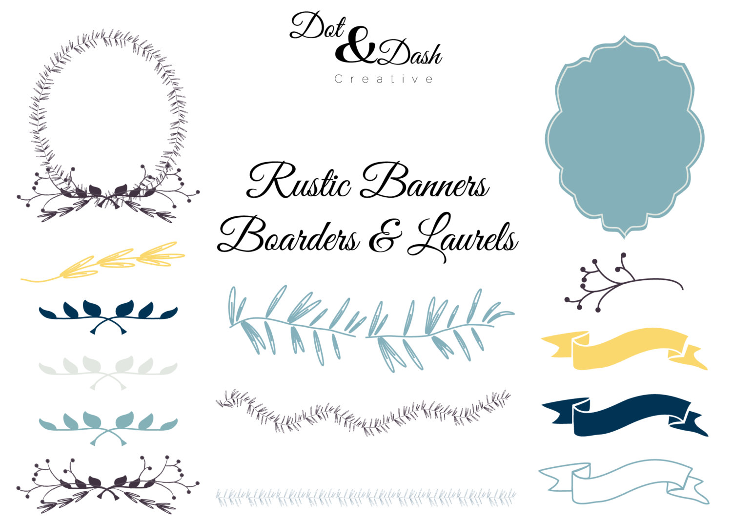 Rustic clipart daisy Laurels collection clipart wedding Rustic