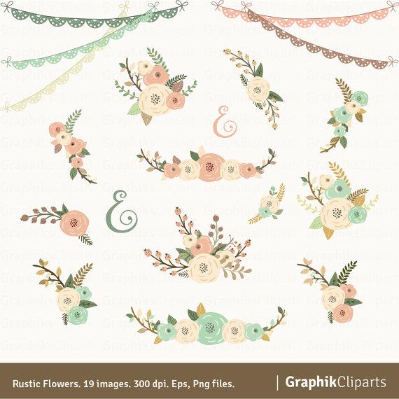 Wedding clipart rustic Clipart Chalkboard foliage Floral Wedding
