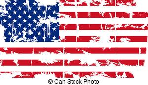 American Flag clipart rustic Vector flag Clipart Crack Vector