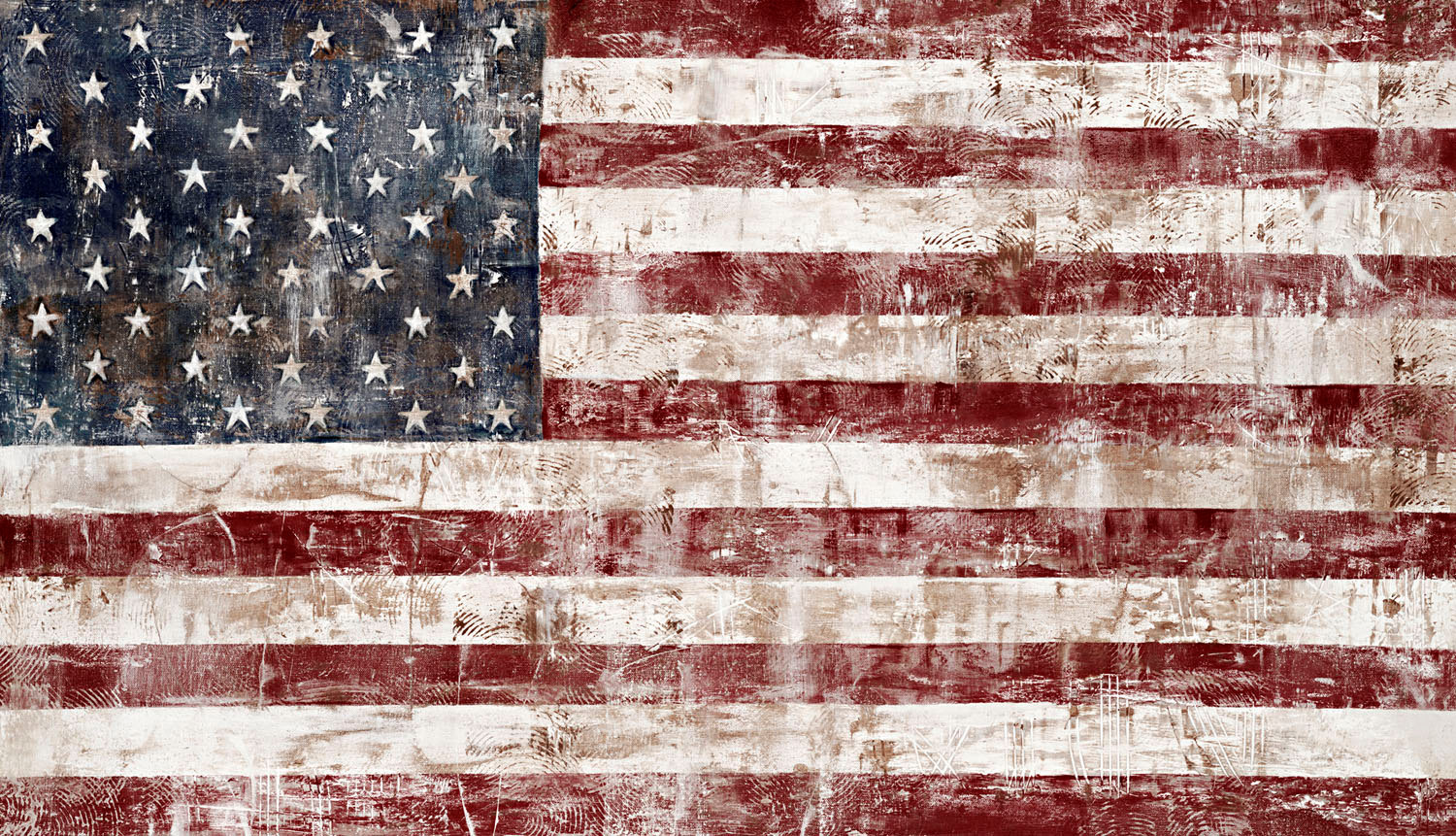 American Flag clipart rustic Painting Banner Banner Artificial Flags