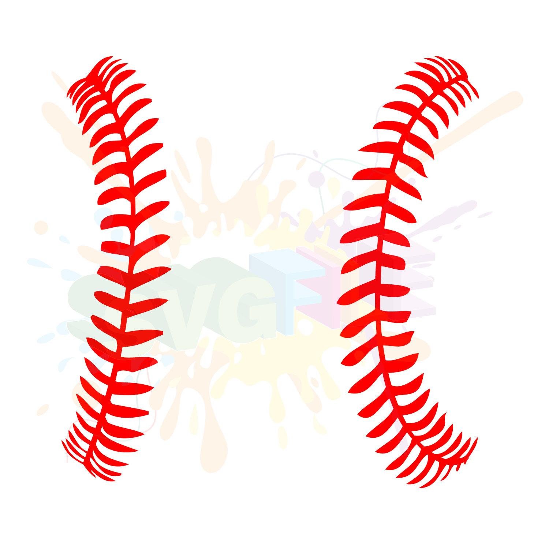 Baseball clipart seams #1